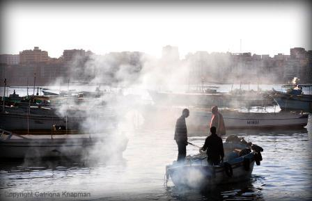 Fishermen in Alexandria, Egypt
