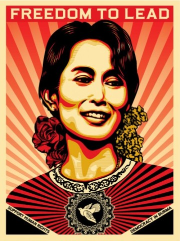 Image from (and can be purchased t) http://www.obeygiant.com/headlines/aung-san-suu-kyi
